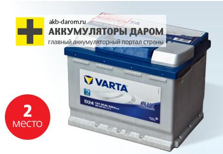 аккумулятор varta 2016